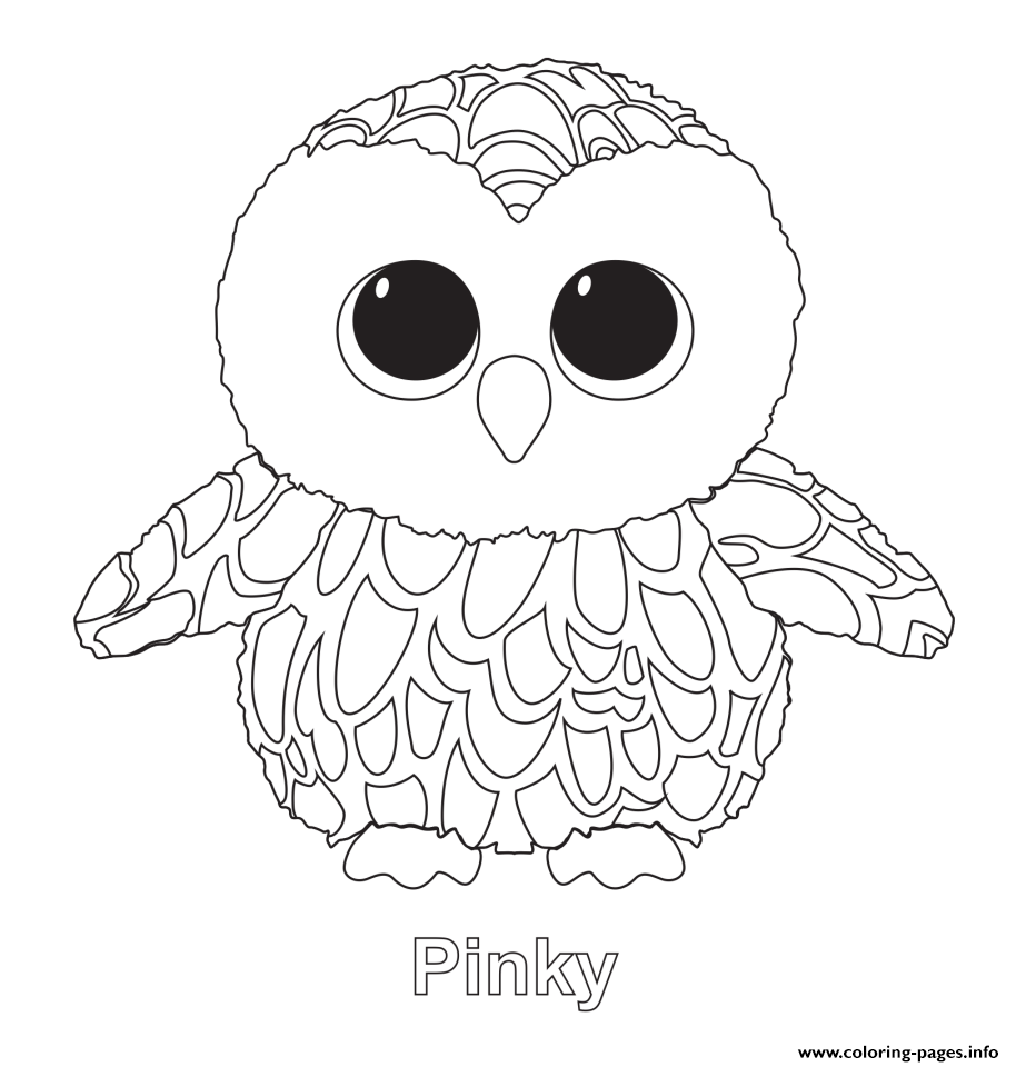 boo coloring pages Pinky Beanie Boo Coloring Pages Printable boo coloring pages