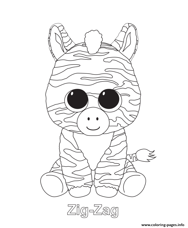 zig zag beanie boo coloring pages - Beanie Boo Coloring Pages