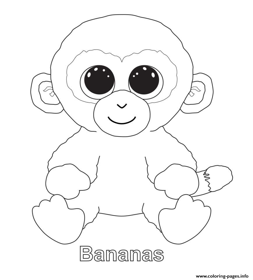 Bananas Beanie Boo Coloring Pages Printable