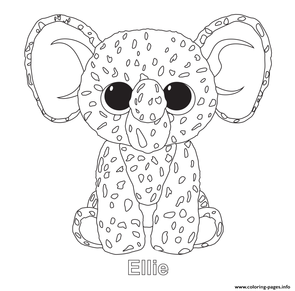 ellie beanie boo coloring pages printable
