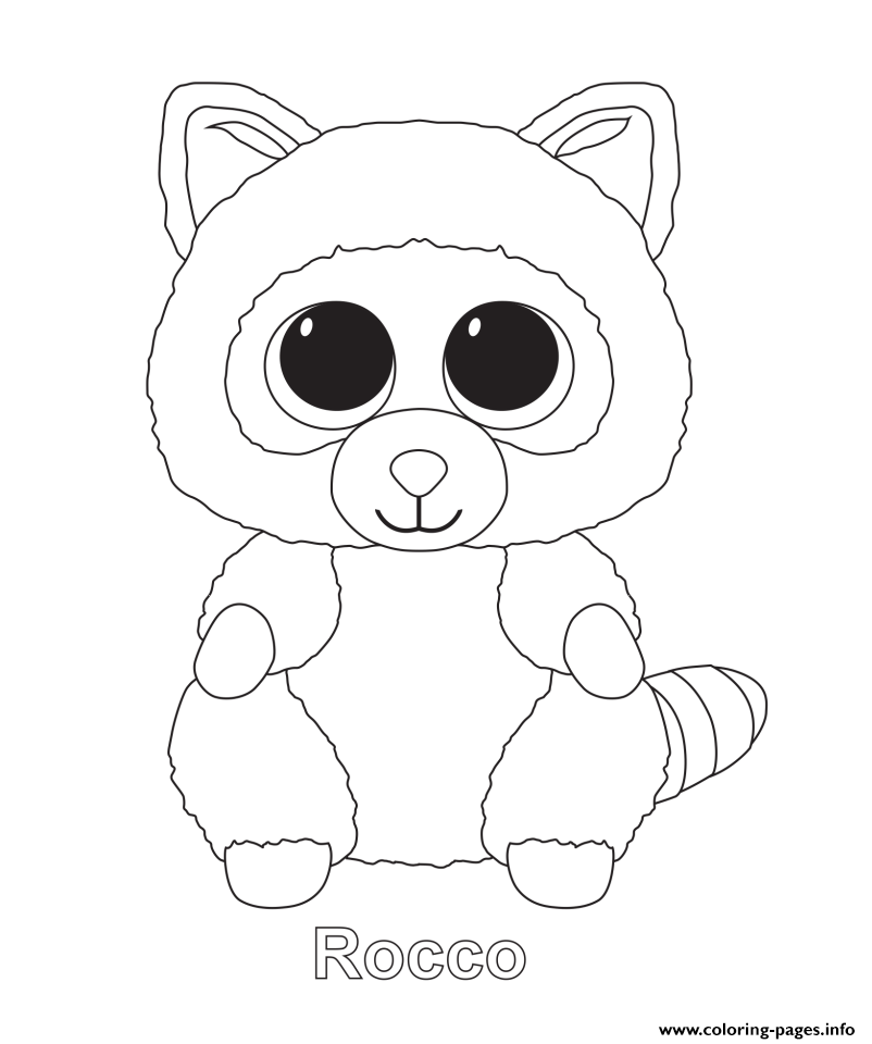 Rocco Beanie Boo Coloring Pages Printable