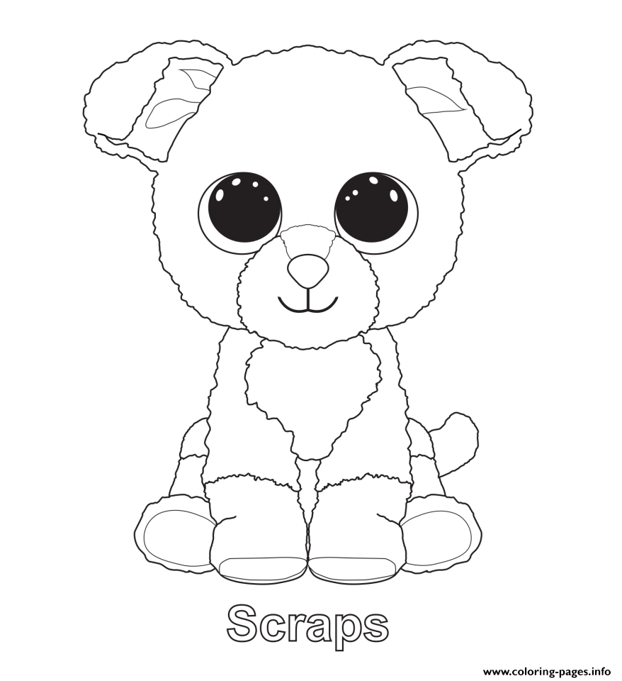 beanie boo coloring pages images-#12