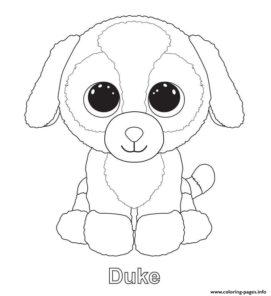 duke beanie boo coloring pages - Print Pages