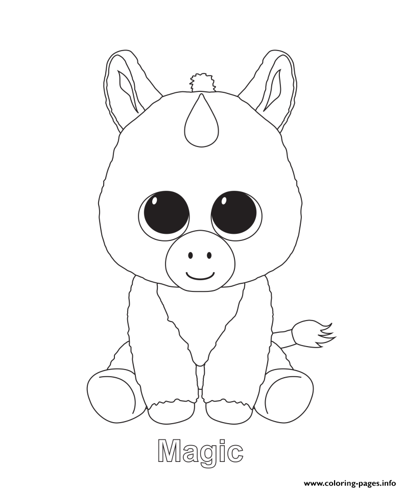 Magic Beanie Boo Coloring Pages Printable