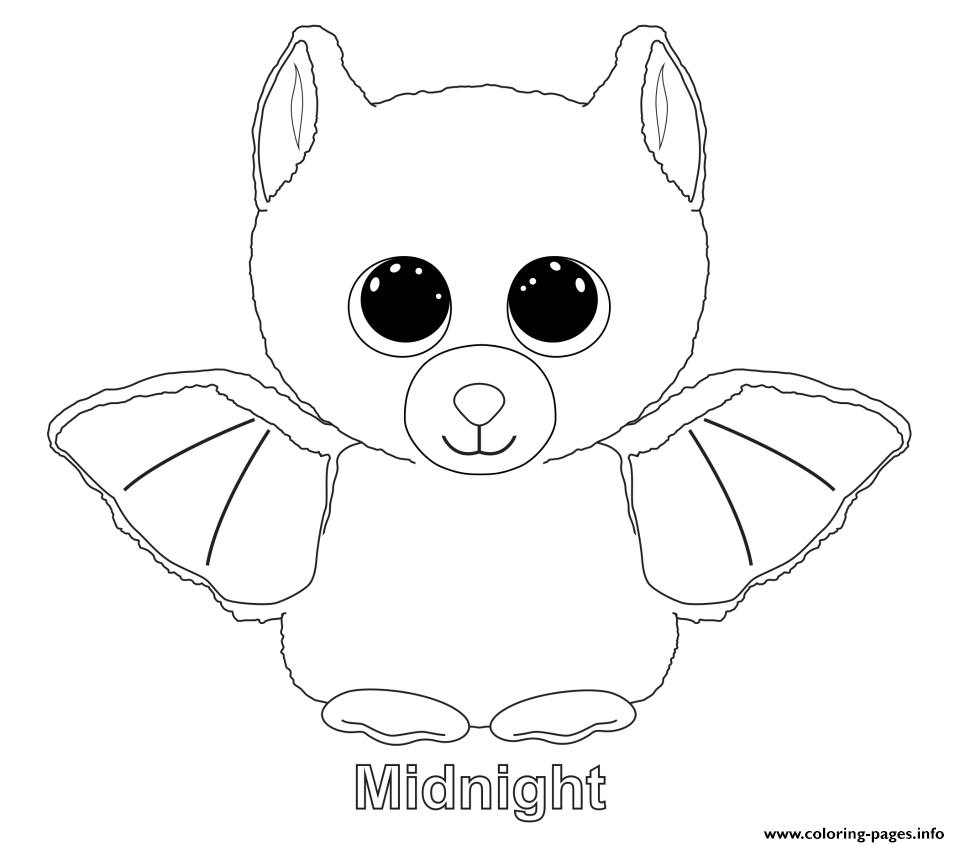 midnight beanie boo colouring print midnight beanie boo coloring pages