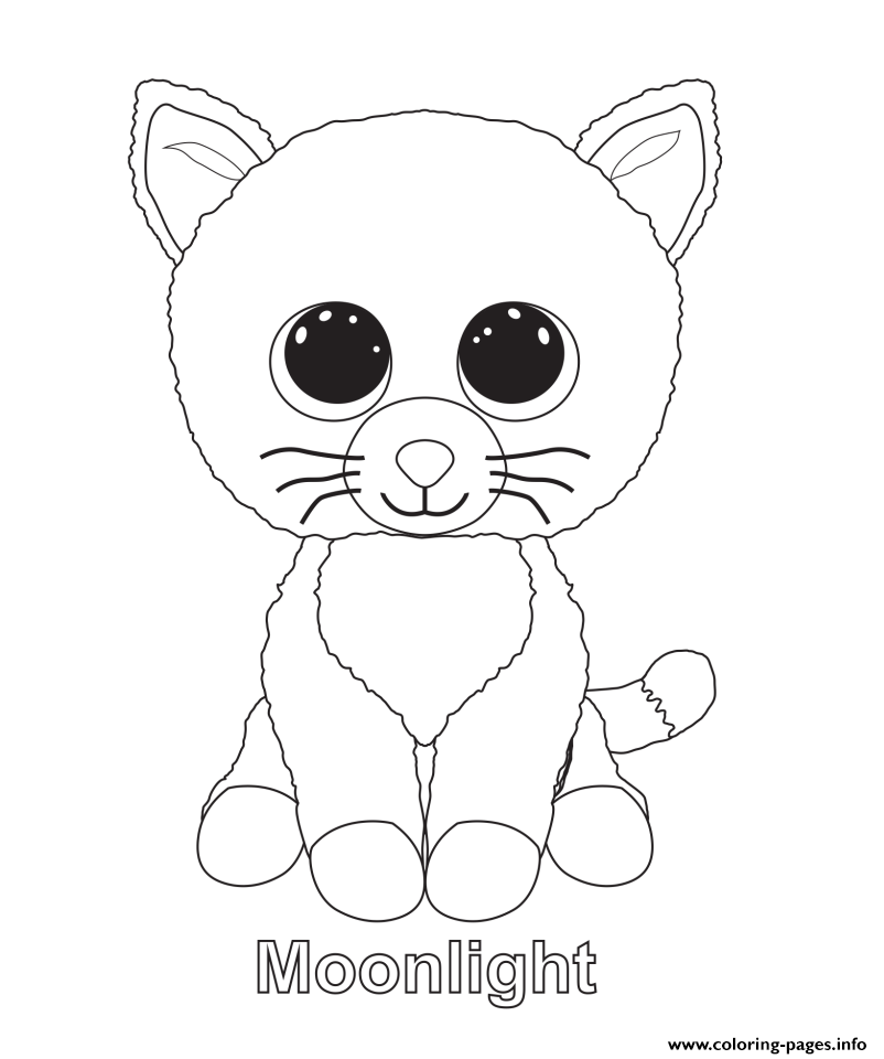 Moonlight Beanie Boo Coloring Pages Printable