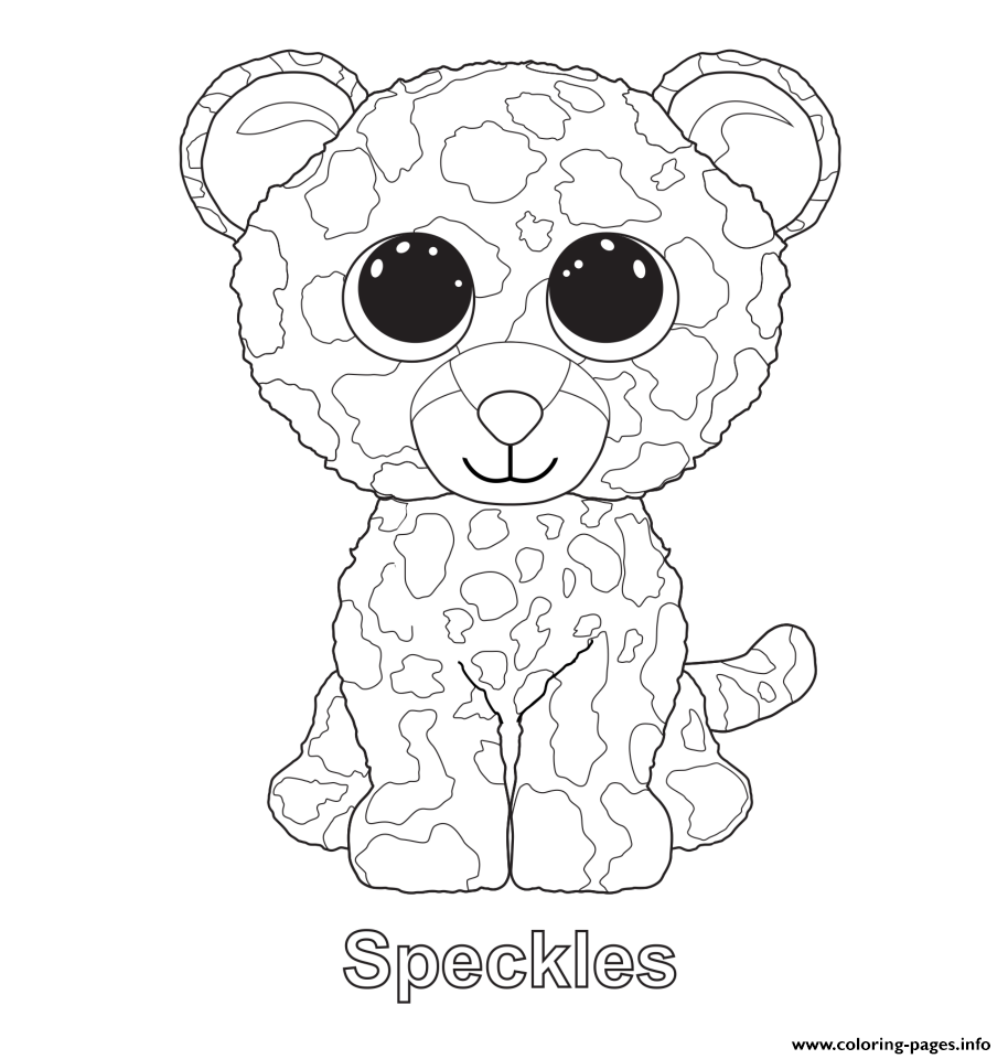 Speckles Beanie Boo Coloring Pages Printable