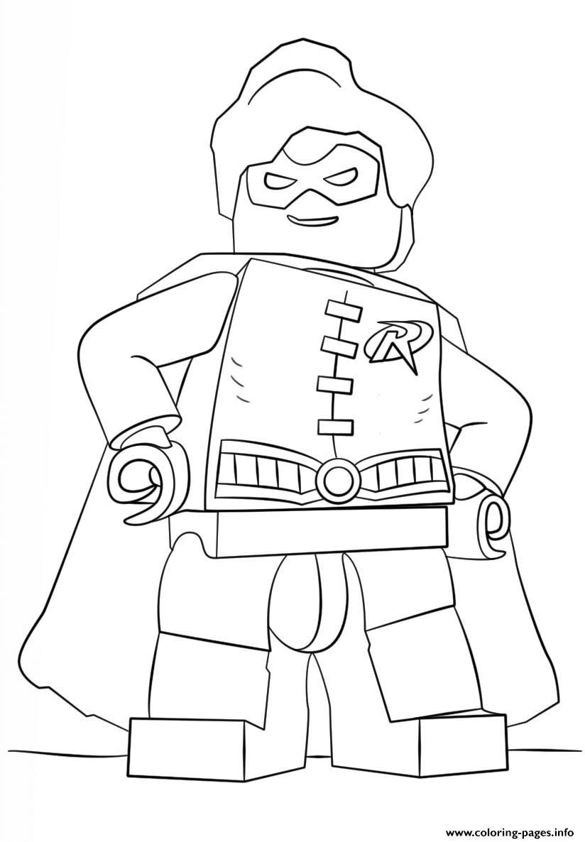 Lego Batman Robin coloring pages