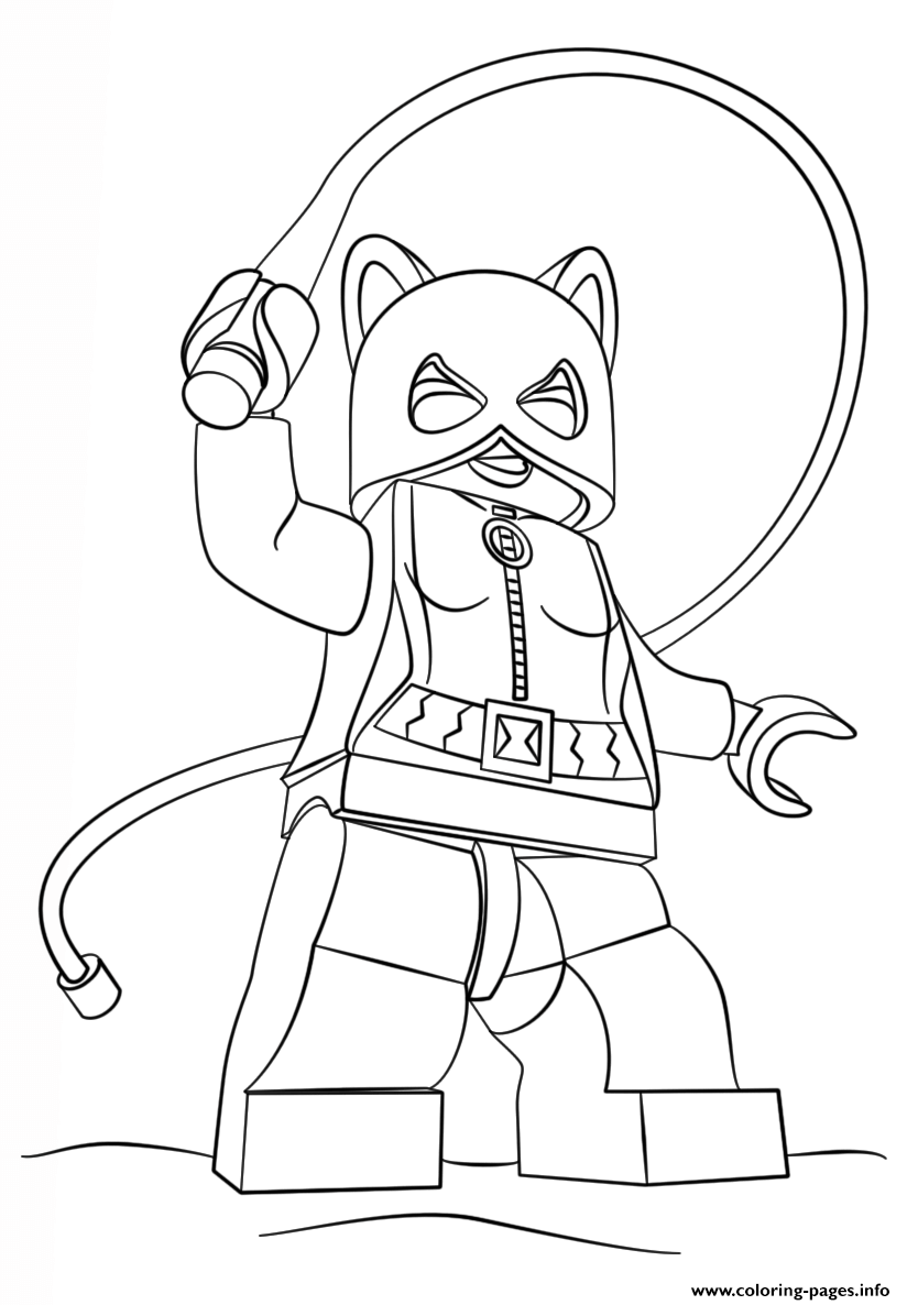 lego batman catwoman Coloring pages Printable