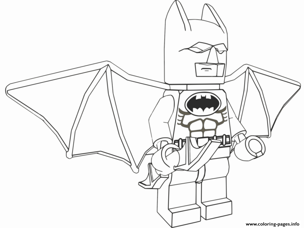 Lego Batman Fly Coloring Pages Printable