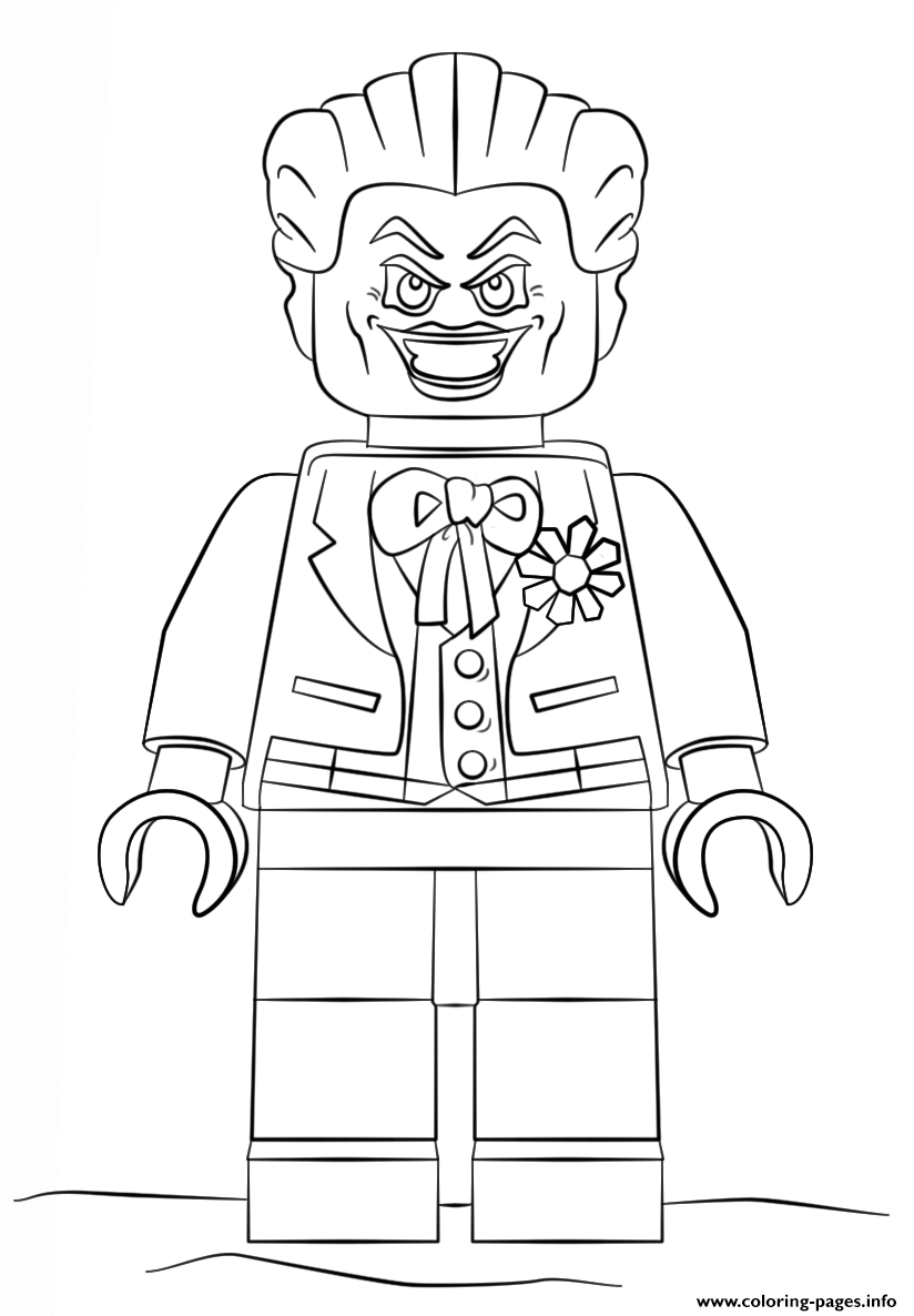 Lego Batman Joker Coloring Pages Printable