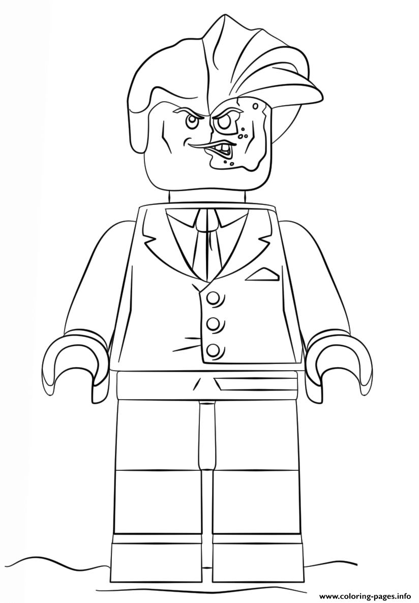 Two Face Lego Batman Coloring Pages