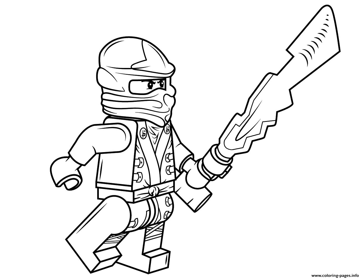 lego ninjago cole coloring pages printable