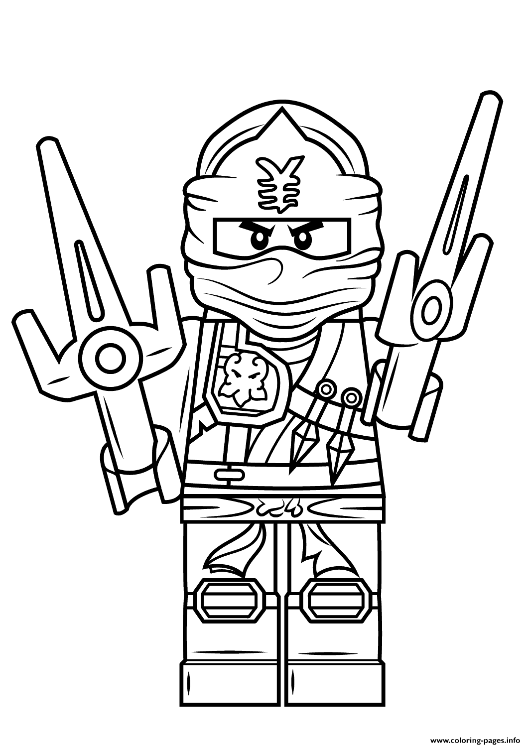 Lego Ninjago Jay Coloring Pages Printable