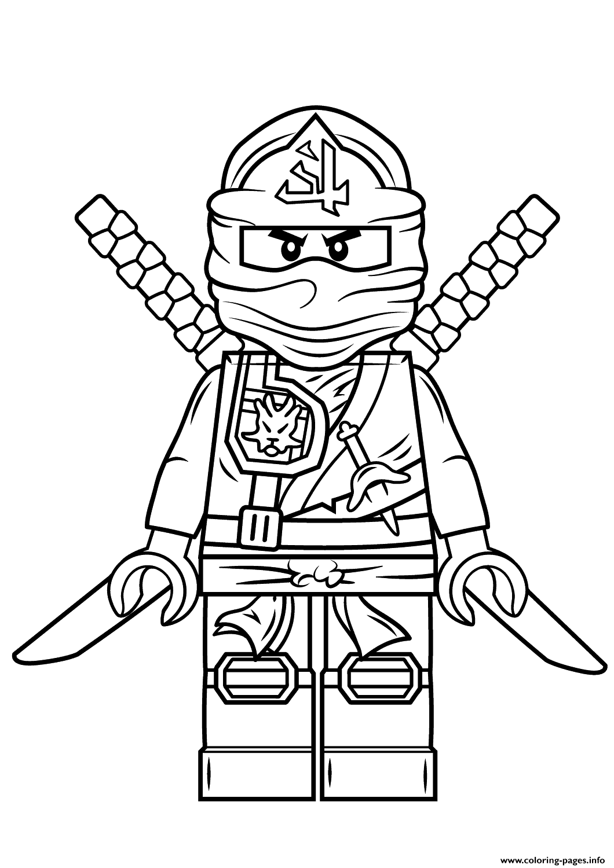 Lego ninjago green ninja coloring pages printable for Kai ninjago coloring pages