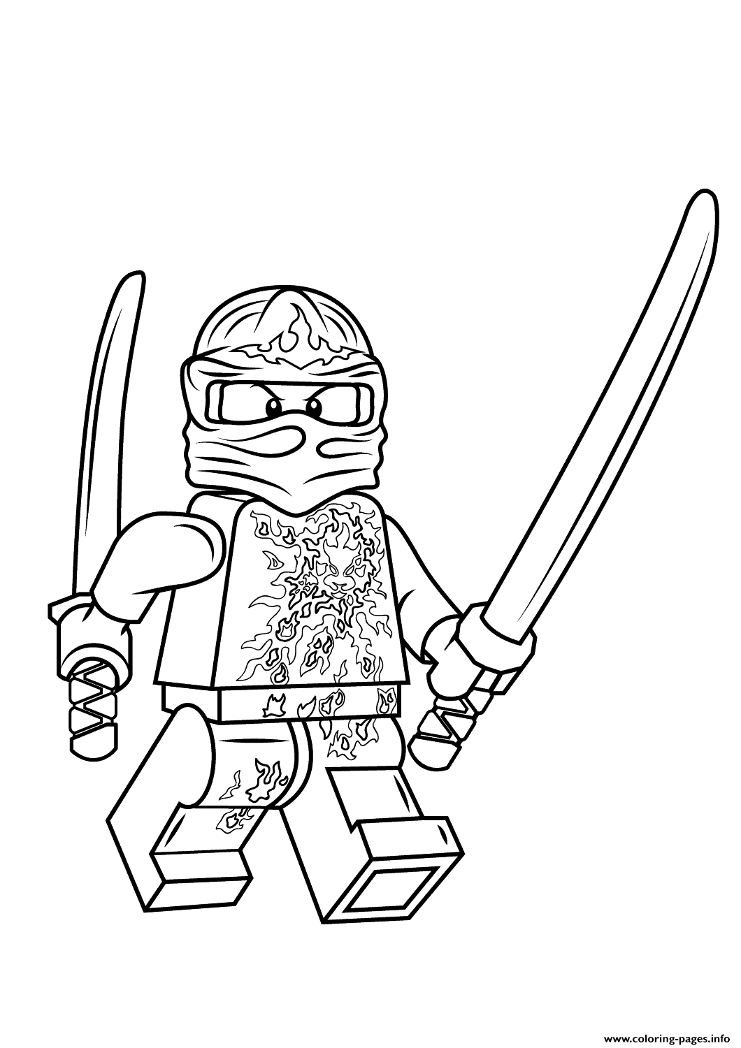 Lego Ninjago Kai Nrg Coloring Pages