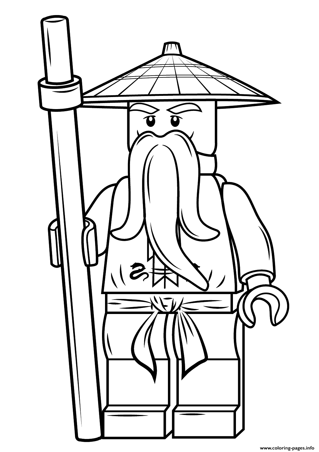 lego ninjago sensei wu coloring pages printable