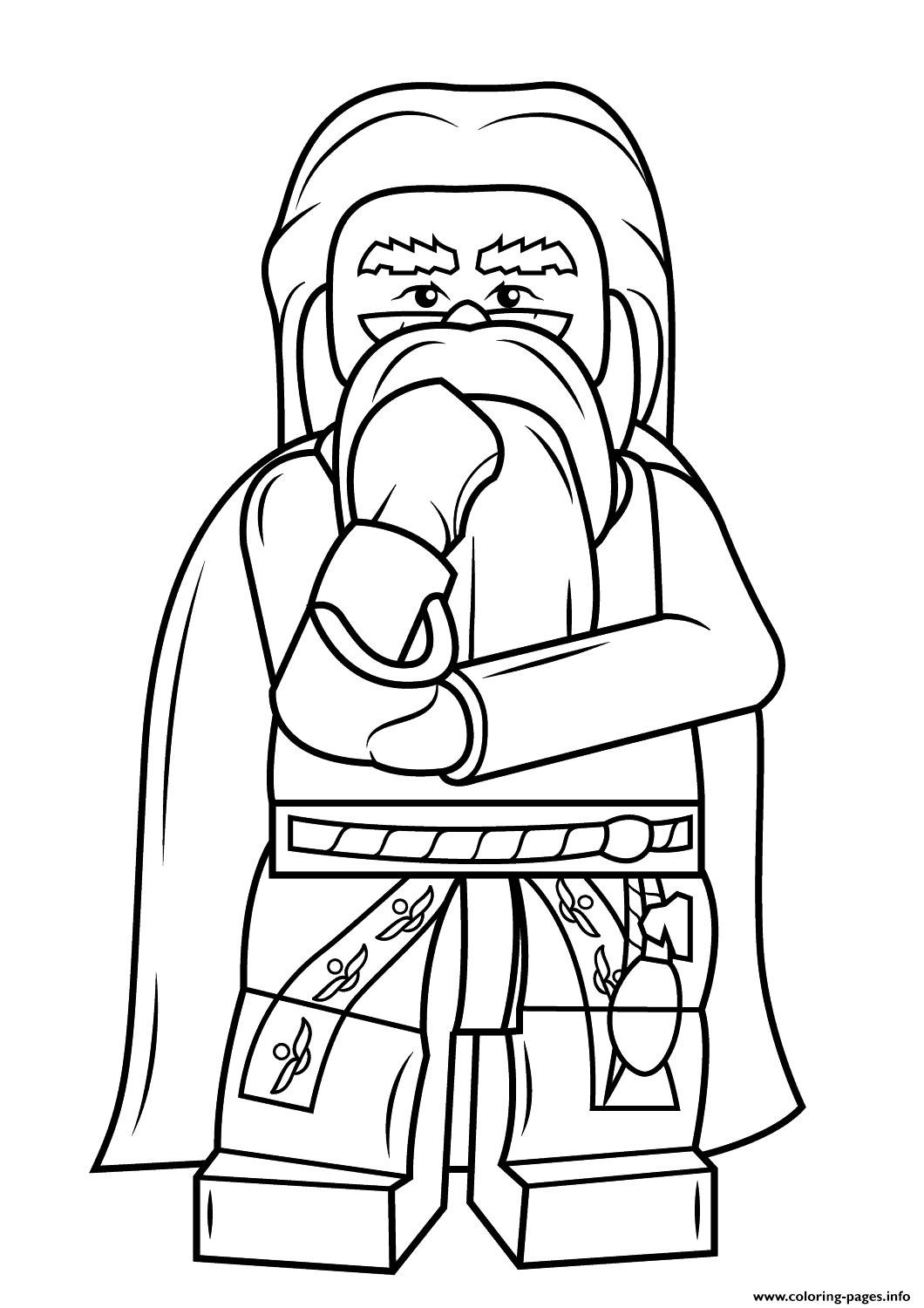 Harry potter coloring pages printable - Lego Albus Dumbledore Harry Potter Coloring Pages