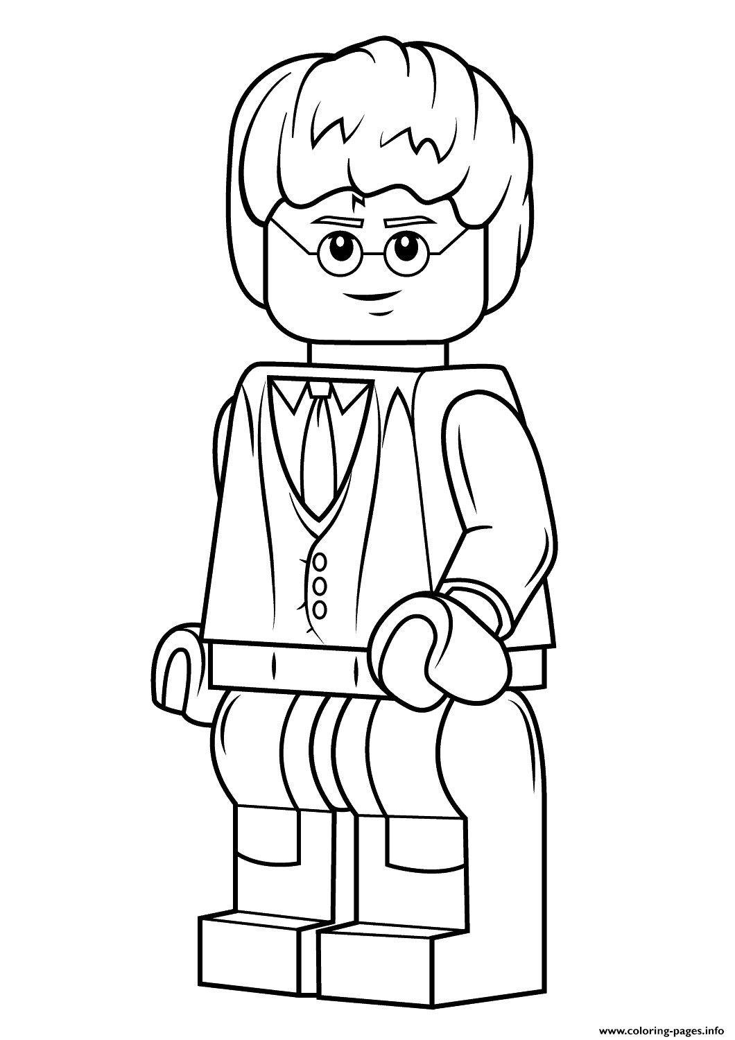 Lego harry potter coloring pages printable for Free printable lego coloring pages for kids
