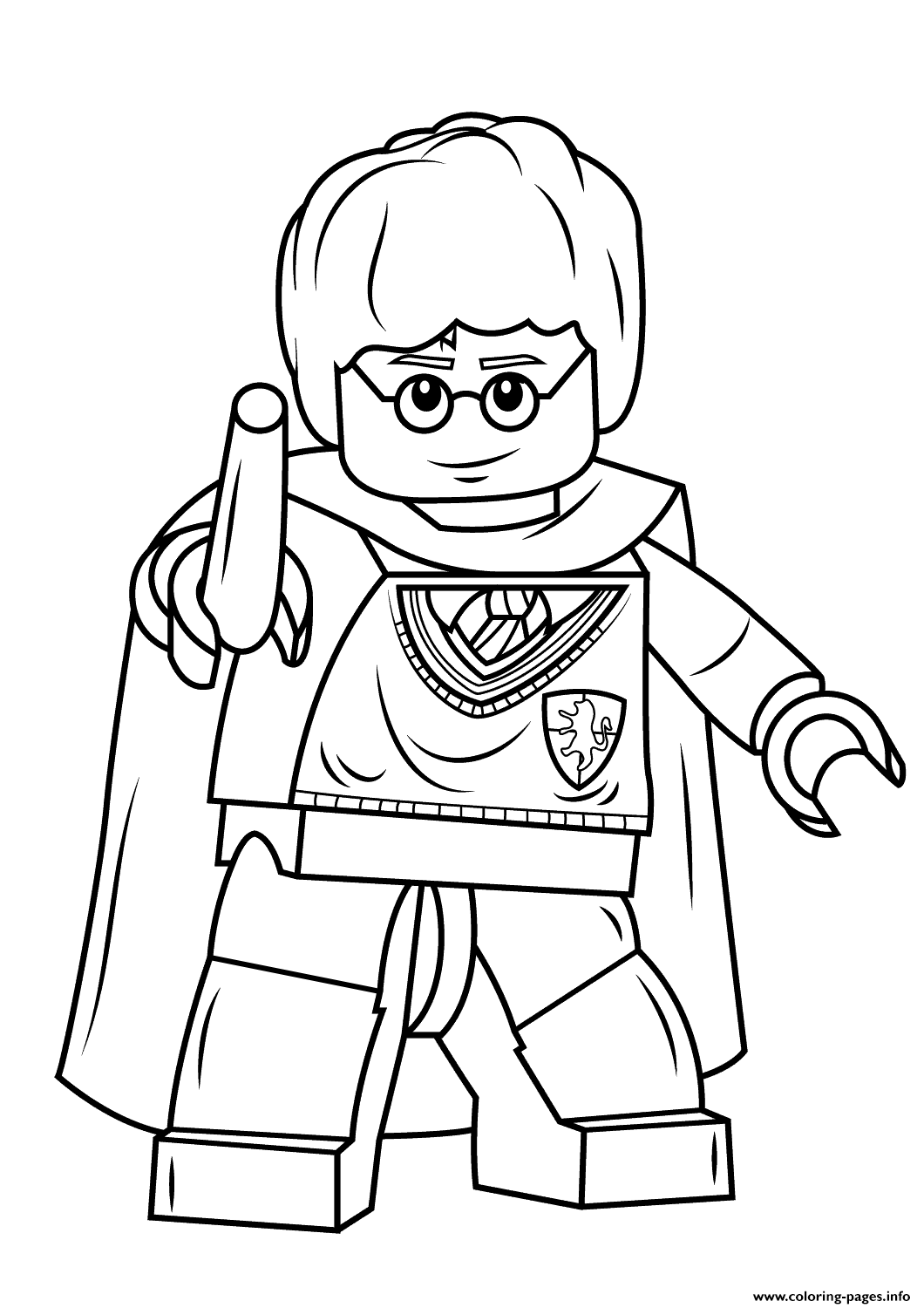 Lego Harry Potter With Wand Coloring