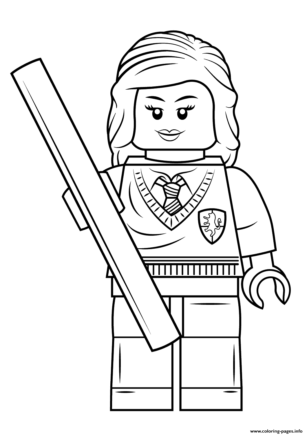 Lego Hermione Granger Harry Potter Coloring Pages