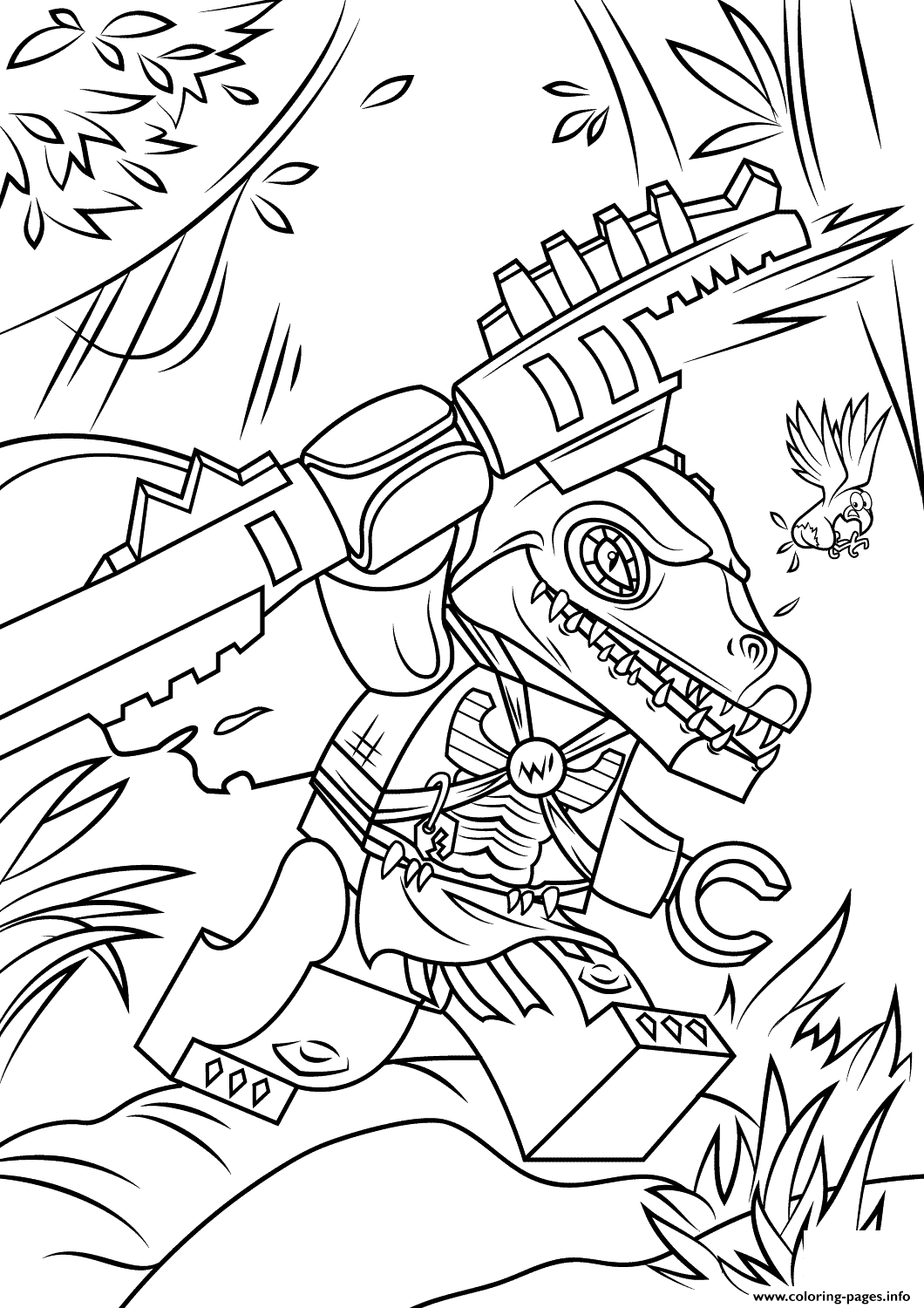 Lego Chima Cragger Coloring Pages Printable
