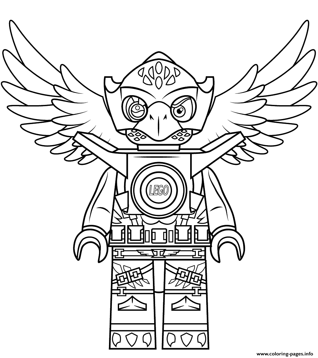 lego chima eagle eris coloring pages printable