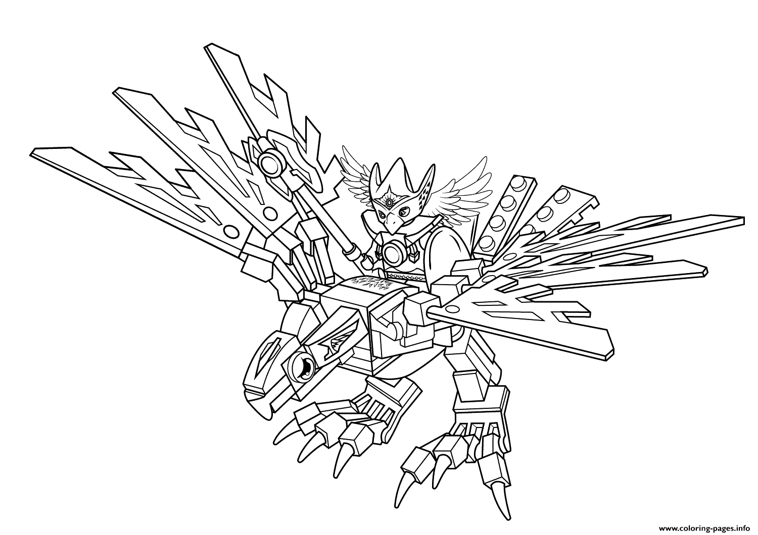 Lego Chima Eagle Legend Beast Coloring Pages Printable