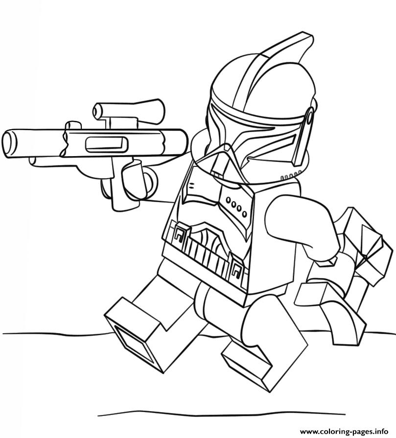 Trooper Santa Coloring Pages