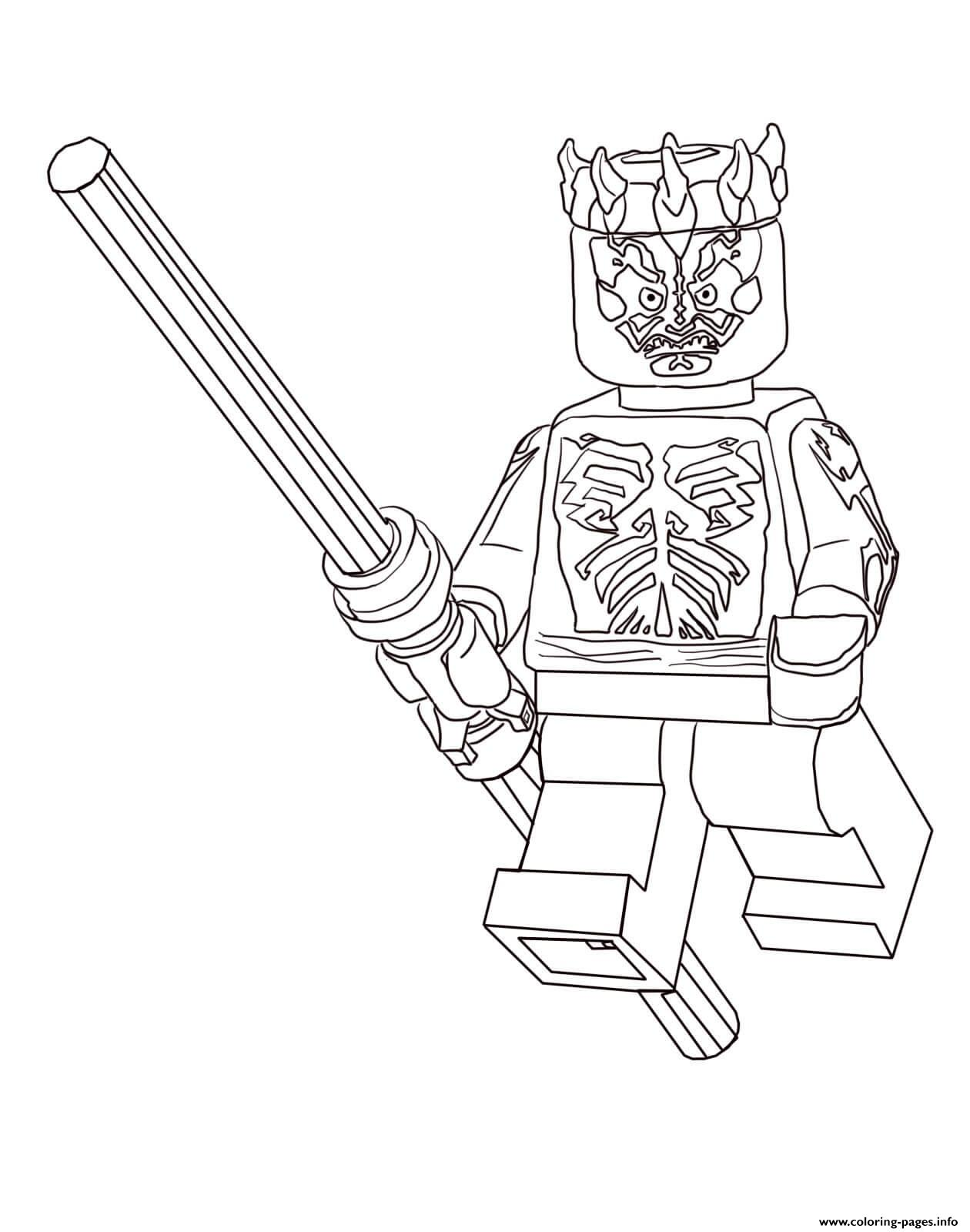 Lego Star Wars Darth Maul Coloring Pages Print Download 351 Prints
