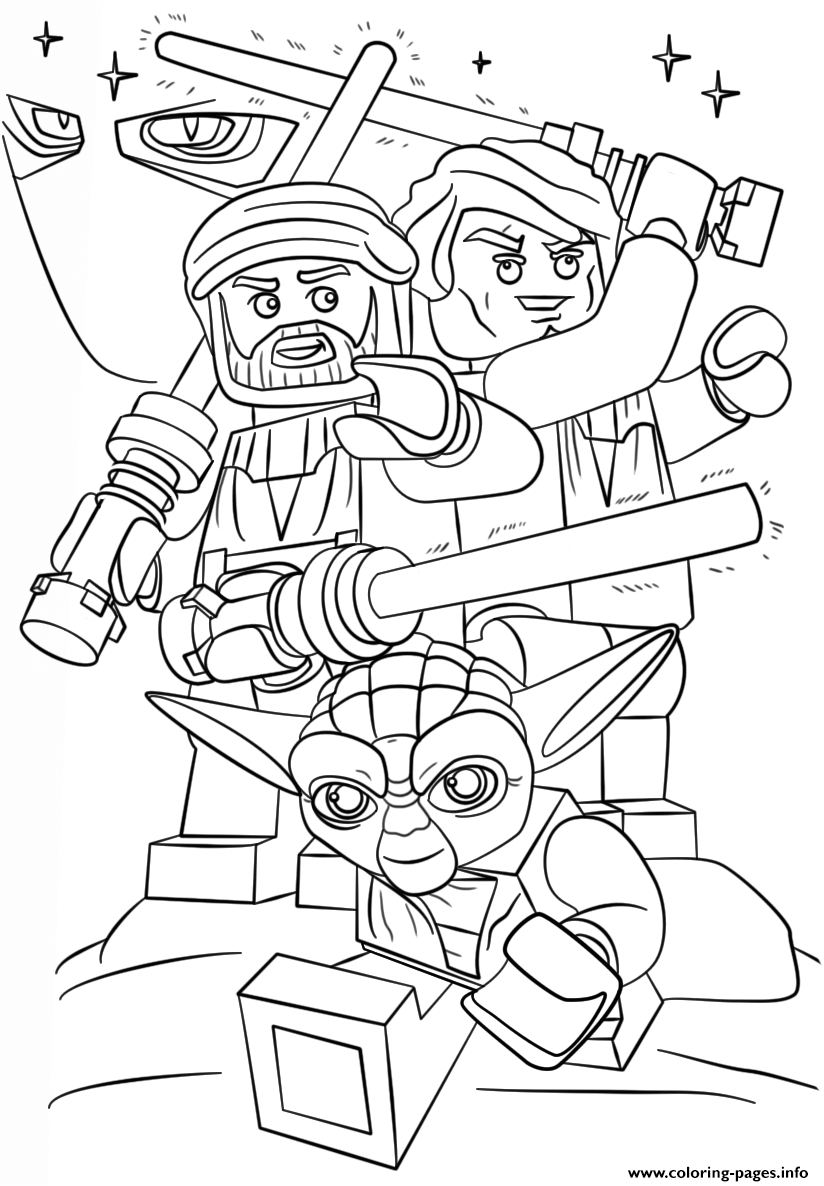 Lego Star Wars Clone Wars Coloring