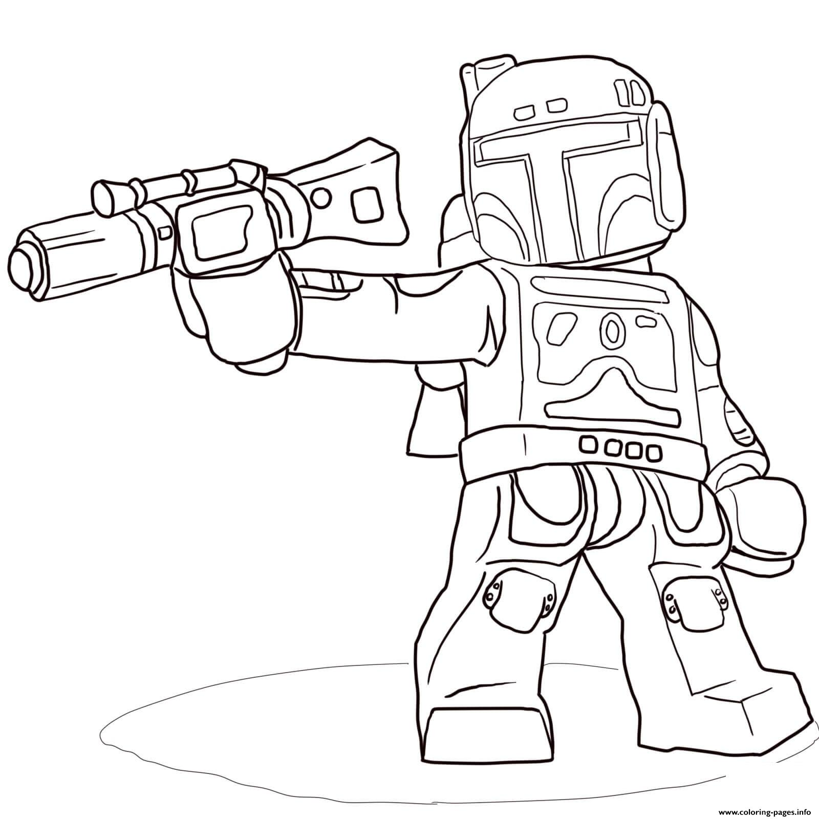 Lego Star Wars Boba Fett Coloring Pages Printable