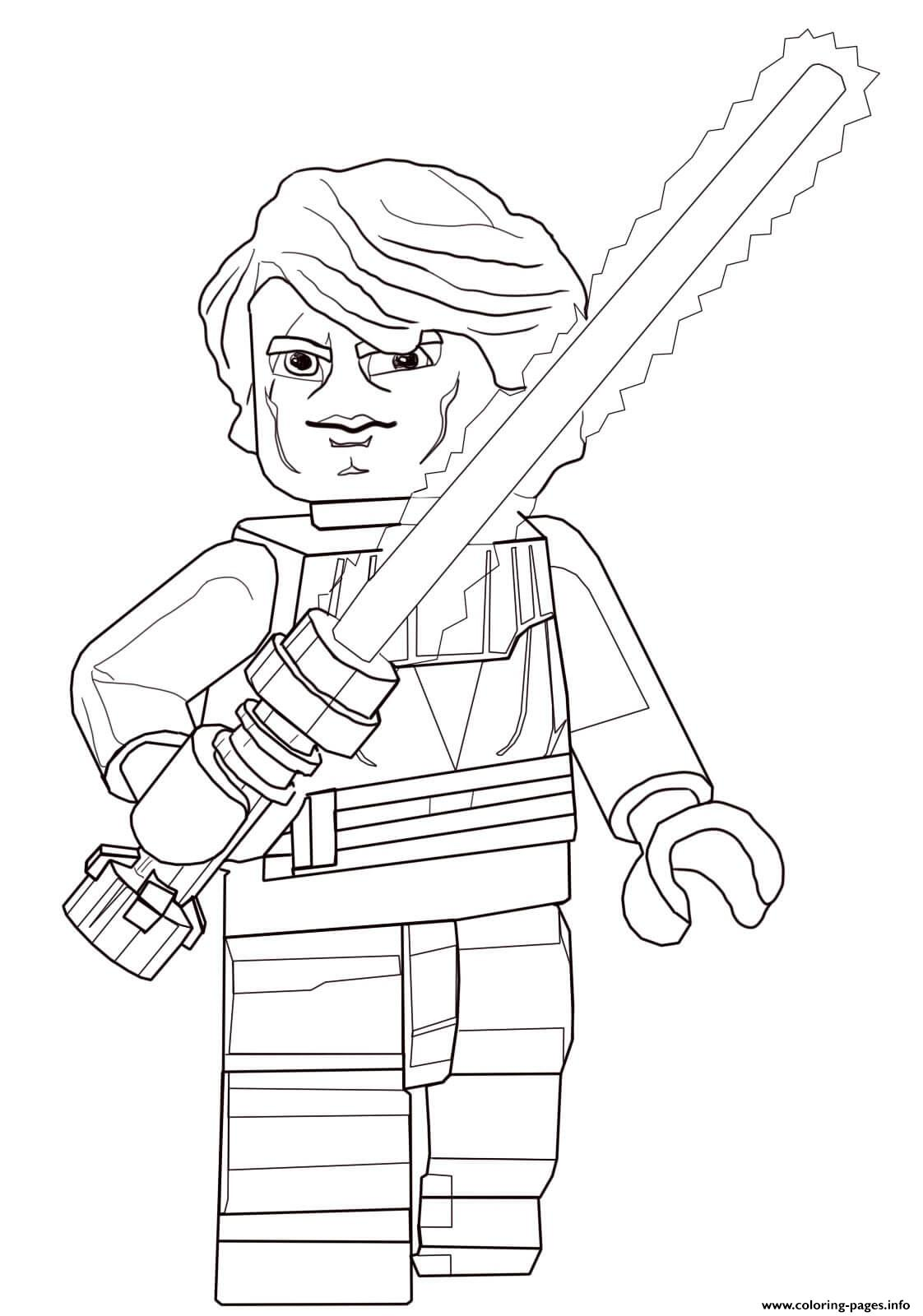 lego star wars anakin skywalker coloring pages printable