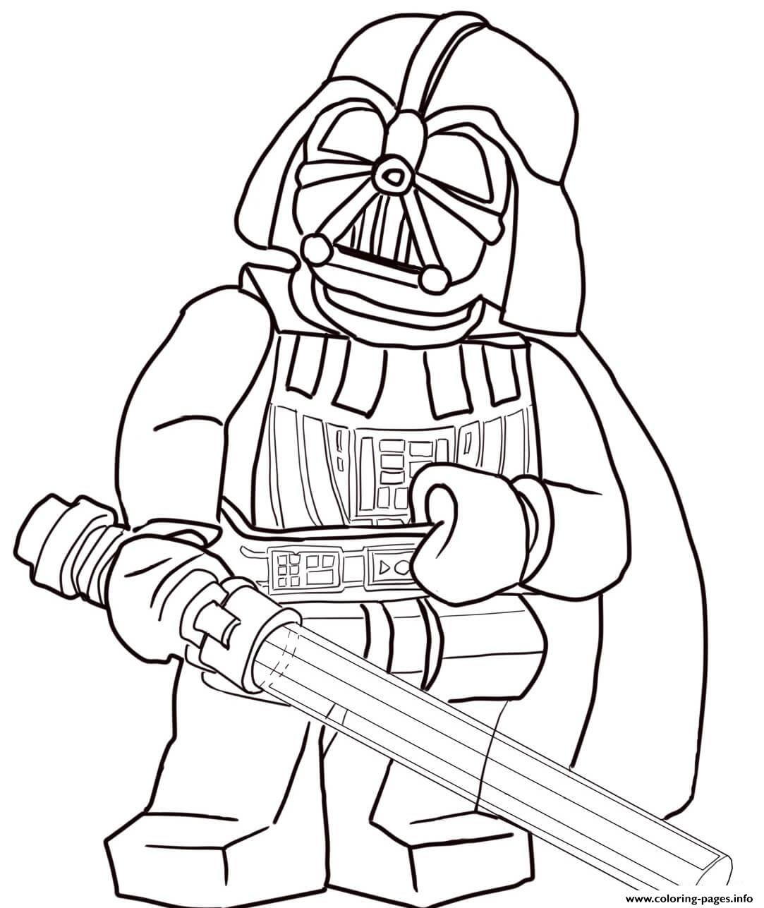 Lego Star Wars Darth Vader Coloring Pages Printable