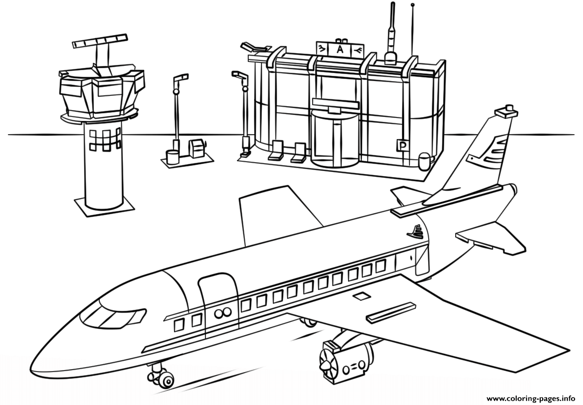 Free printable coloring pages for adults city - Lego Airport City Colouring Print Lego Airport City Coloring Pages