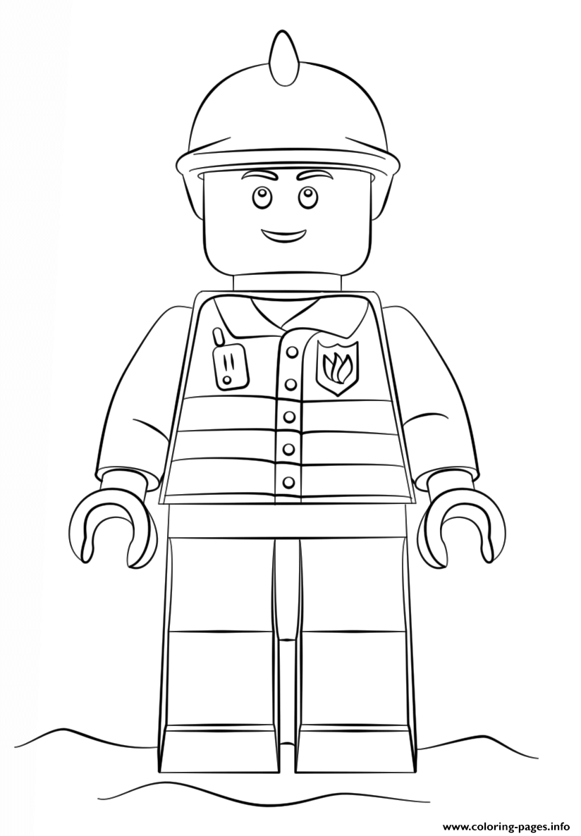 Lego Fireman City coloring pages