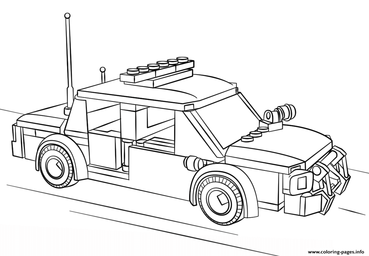 Lego Police Car City Coloring Pages Printable