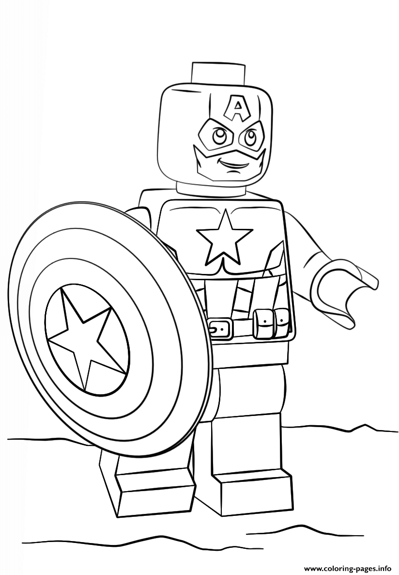 Lego Captain America Coloring Pages Printable