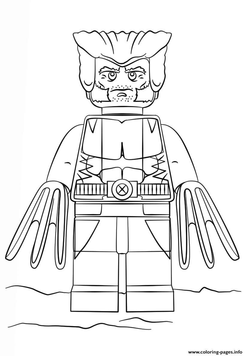 Lego wolverine coloring pages printable for Lego coloring pages to print free