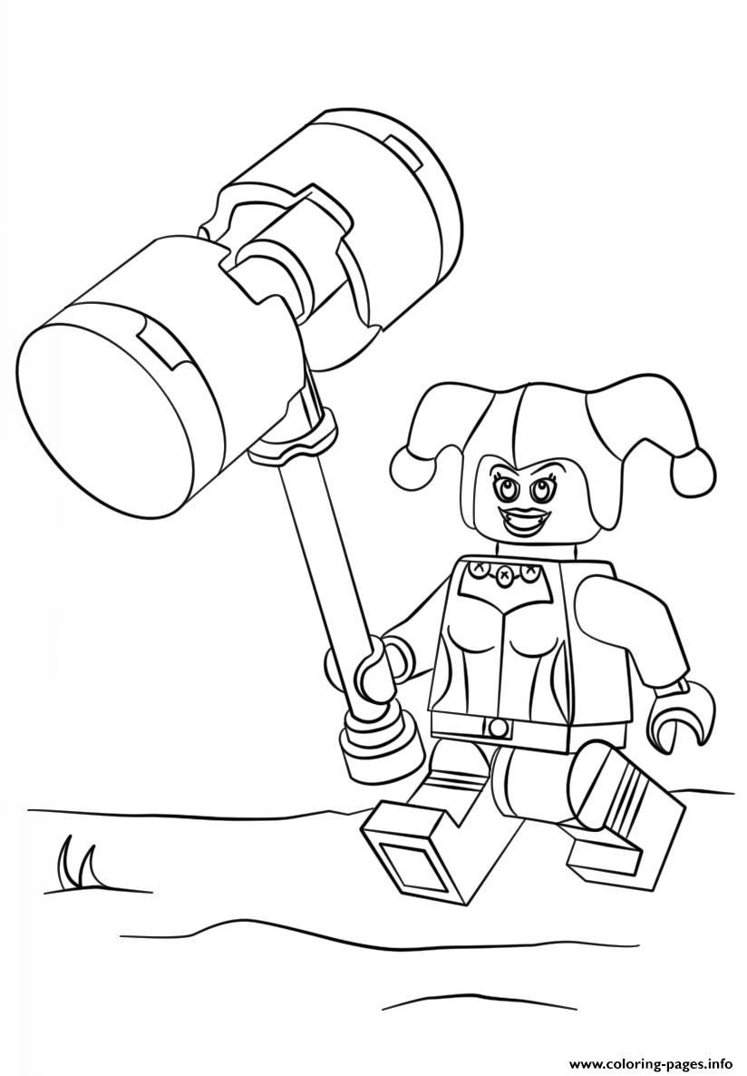 Lego Harley Quinn Coloring Pages