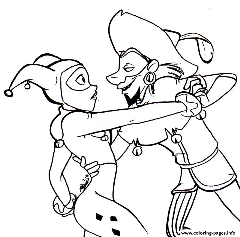 Dancing Harley Quinn Coloring Pages