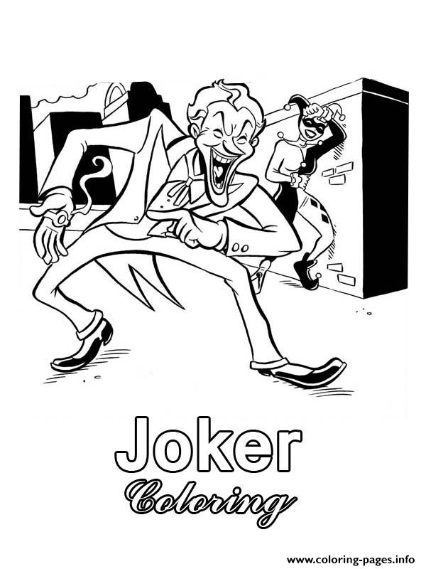 Joker Batman Harley Quinn Coloring Pages Printable