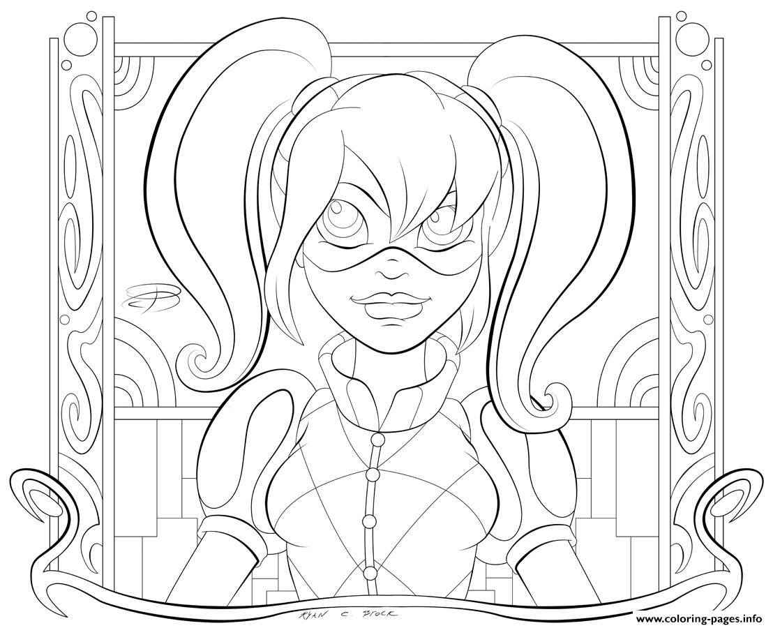 Kid Hd Harley Quinn Coloring Pages