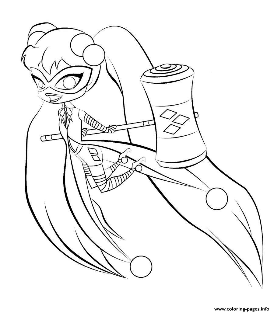 Harley Quinn Kids Online Coloring Pages