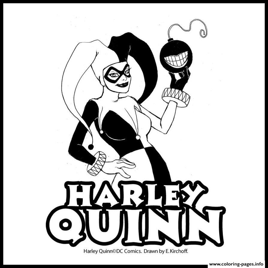 Coloring book quinn - Dc Comics Harley Quinn Coloring Pages