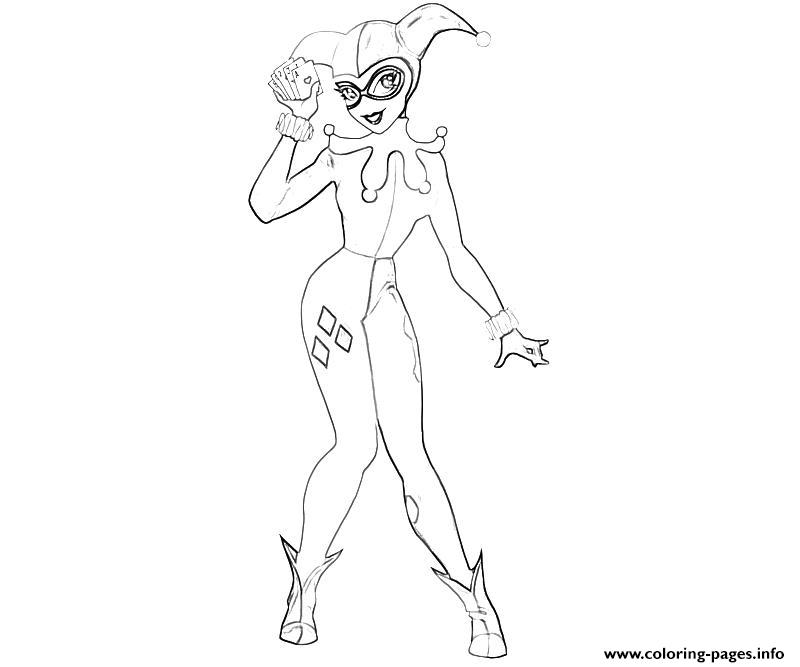 Smile Harley Quinn Colouring Print Coloring Pages Batman