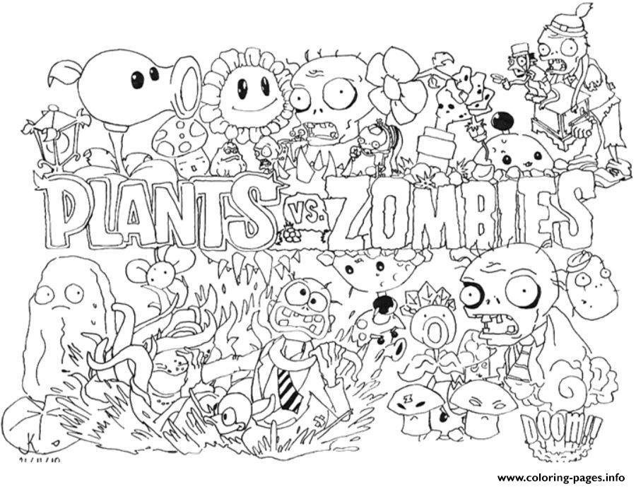 plants vs zombies 2 coloring pages 2 Plants Vs Zombies Coloring Pages Printable plants vs zombies 2 coloring pages