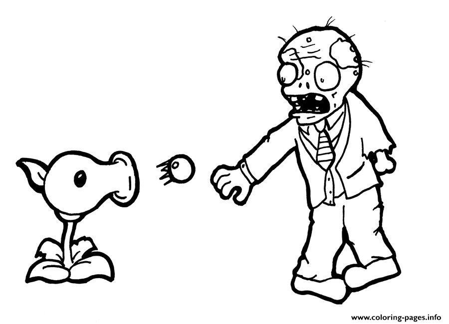 - Plant Shoot Zombi Plants Vs Zombies Coloring Pages Printable