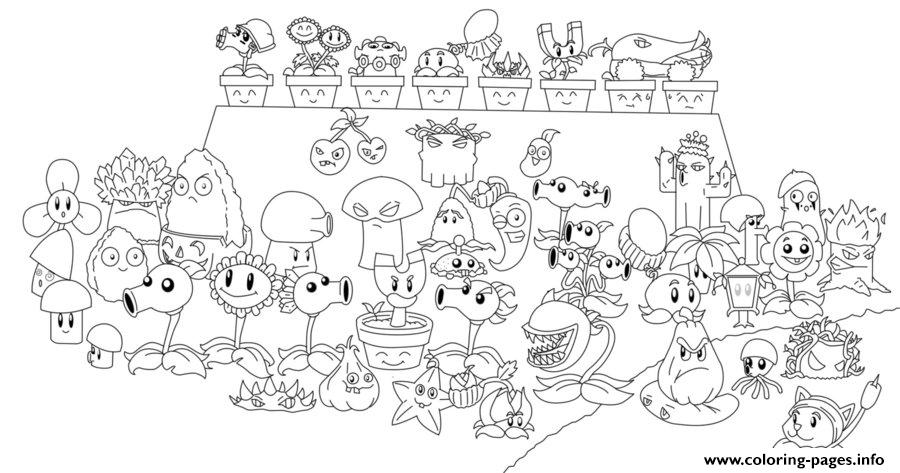 Plants Zombies Coloring Pages Chomper Pvz All Line Art108751