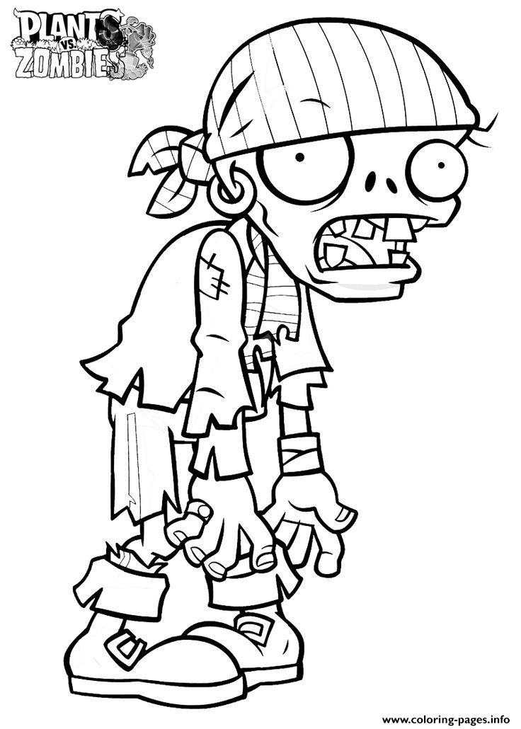 Zombi Plants Vs Zombies Coloring Pages Printable